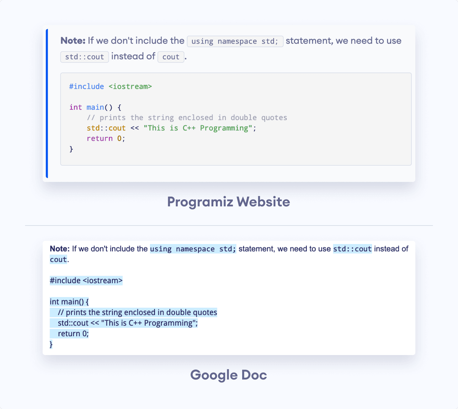 Converting Note Tip from HTML To Google Docs