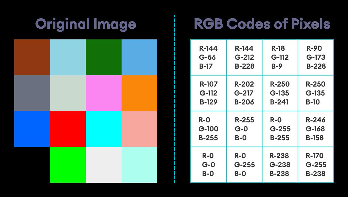 Original Image With RGB Codes