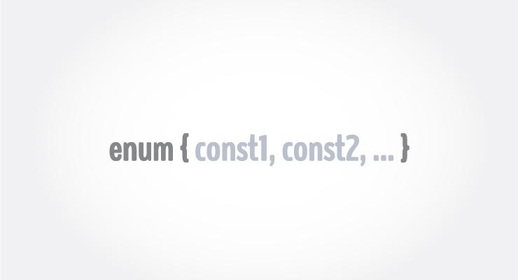 C enum