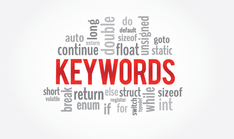 List of keywords in C programming language