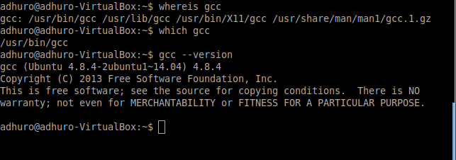 Check gcc version in linux