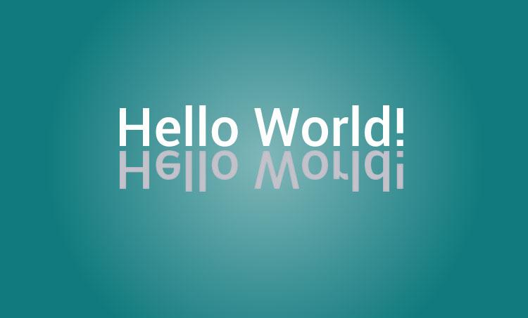 c quothello worldquot program