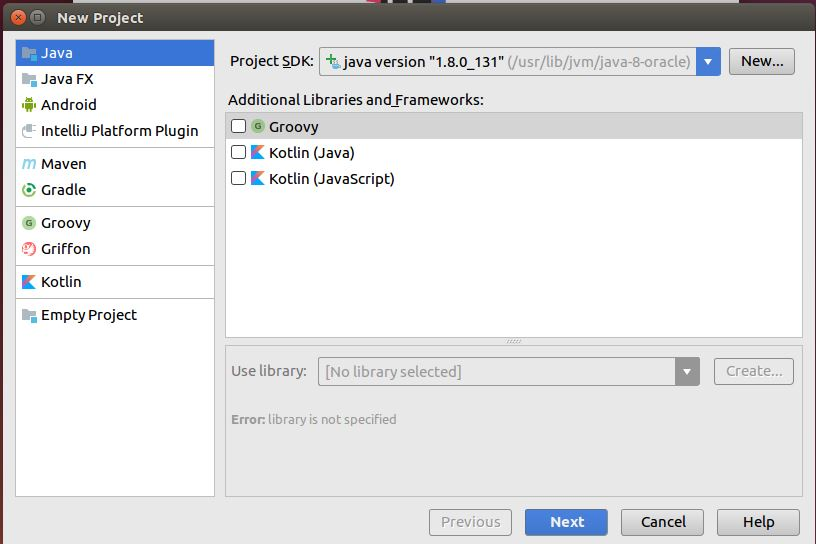 Intellij IDEA JDK selection on Linux