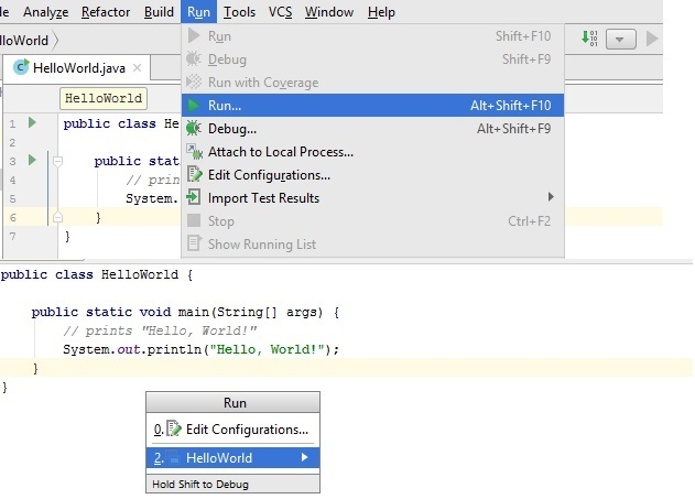 Running Java program in IntelliJ IDEA
