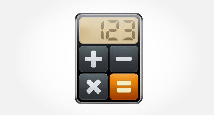 Simple calculator to add, subtract, multiply and divide.